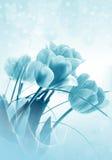 blåa magiska tulpan stock illustrationer