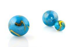 blåa marmorar Arkivbild