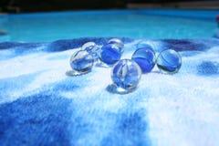 blåa marmorar Royaltyfria Bilder