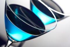 blåa martini fotografering för bildbyråer