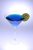 blåa martini Royaltyfri Fotografi