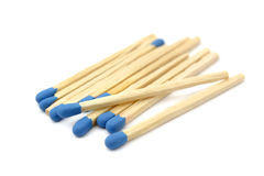 blåa matches Arkivbild