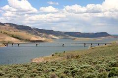 Blåa Mesa Reservoir Bridge Arkivfoto