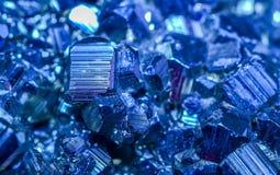 Blåa mineraler Fotografering för Bildbyråer