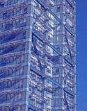blåa moderna strukturer Arkivfoto