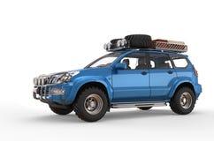 Blåa moderna SUV Arkivbild