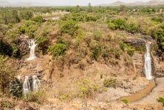 Blåa Nile Falls Arkivfoto