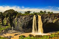 Blåa Nile Falls, Etiopien Royaltyfri Bild