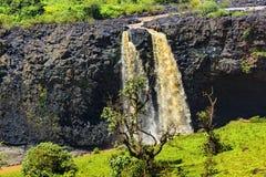 Blåa Nile Falls, Etiopien Fotografering för Bildbyråer