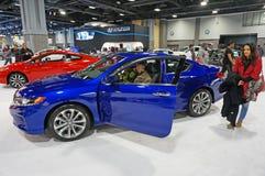 Blåa och röda Honda fördrag Royaltyfria Foton