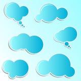 blåa oklarhetsetiketter Royaltyfria Bilder