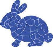 Blåa olika beståndsdelar, design av kanin royaltyfri illustrationer