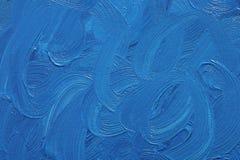 blåa oljemålarfärger Royaltyfri Bild