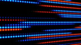 Blåa orange glödande Digital Dots Loop Motion Background