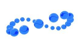 blåa orbiting spheres royaltyfri illustrationer