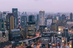 Blåa Osaka Arkivfoton