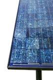 blåa paneler sluttade sol- sikt Arkivbilder