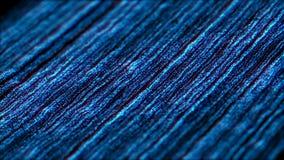 Blåa partiklar fluktuerar Intro som är i stånd till att kretsa stock video