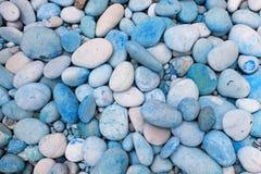 blåa pebbles Arkivbilder