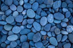 blåa pebbles Arkivfoton