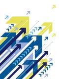 blåa pilar Arkivfoton