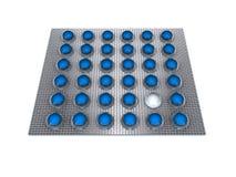 blåa pills stock illustrationer