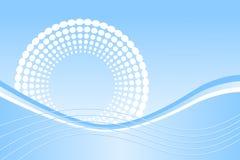 blåa prickwaves stock illustrationer