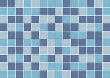 Blåa, purpurfärgade och gråa fyrkantiga keramiska mosaiktegelplattor texturerar bakgrund arkivbilder