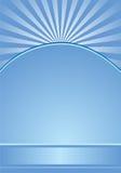 blåa radialband för bakgrund Royaltyfri Illustrationer