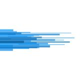 Blåa raka linjer abstrakt begrepp på ljus bakgrund. Vektor Arkivbilder