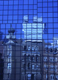 blåa reflexioner Arkivbilder