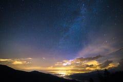 Blåa Ridge Milky Way arkivfoton