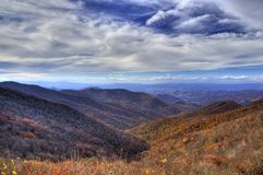 Blåa Ridge Mountain Arkivbilder