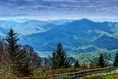 Blåa Ridge Mountains, North Carolina Fotografering för Bildbyråer