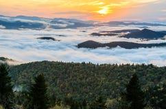 Blåa Ridge Sunset arkivbilder