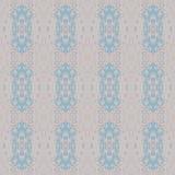 Blåa rosa färggrå färger för sömlösa retro prydnader royaltyfri illustrationer