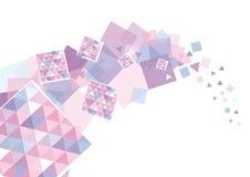 blåa rosa fyrkanter stock illustrationer