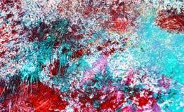 Blåa rosa purpurfärgade vita färger, suddig måla vattenfärgbakgrund, abstrakt målningvattenfärgbakgrund arkivfoton