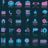 Blåa rosa symboler Arkivbilder