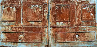 Blåa Rusty Metal Texture Background arkivfoton