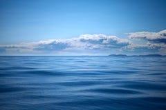 Blåa sammetvågor Arkivbilder
