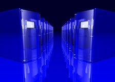 blåa serveror Arkivbild