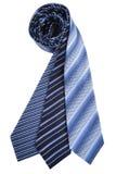 blåa silk ties Arkivbild