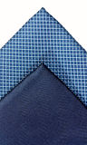 blåa silk ties två Fotografering för Bildbyråer