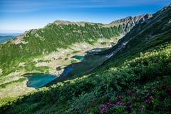 Blåa sjöar, Kamchatka Royaltyfri Bild