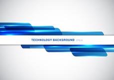 Blåa skinande geometriska former för abstrakt titelrad som överlappar flyttande futuristisk stilpresentation för teknologi på vit vektor illustrationer