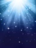 Blåa skinande lampor Arkivfoton
