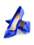 blåa skor royaltyfria bilder