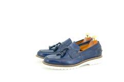 blåa skor royaltyfri fotografi
