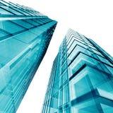 blåa skyskrapor royaltyfri illustrationer